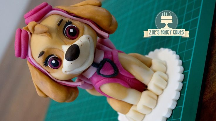 How to make a cake topper of Skye from Paw Patrol! I use modelling paste / gum paste to create my Paw Patrol figure, you could also use fondant with tylose p...
