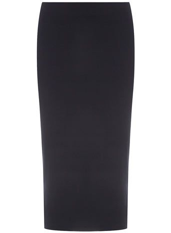 Navy tube midi skirt -- well this is cute as hell. And only $35!