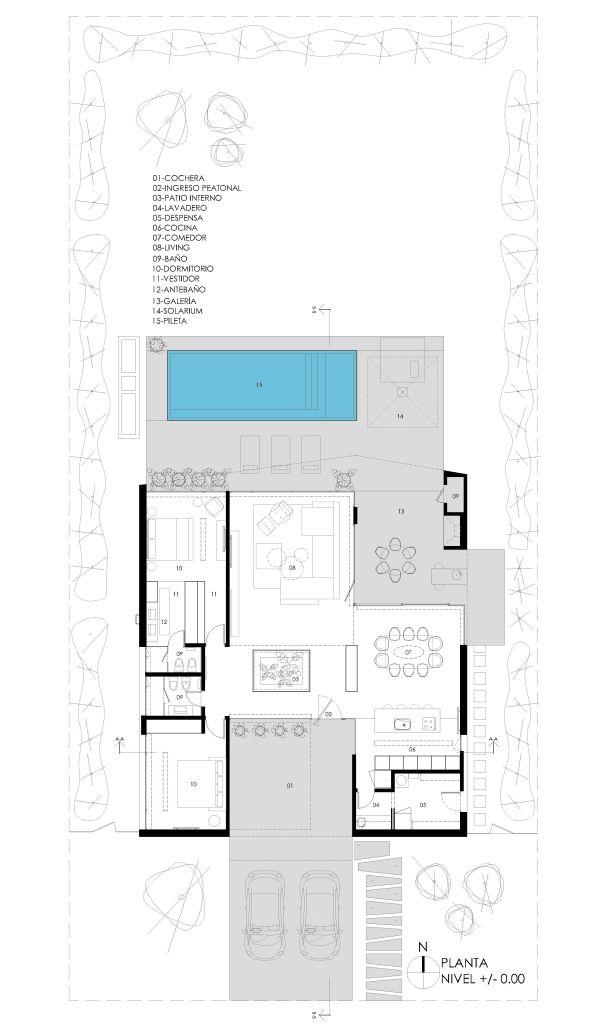 1598 best planos de casas images on pinterest floor for Casas minimalistas planos