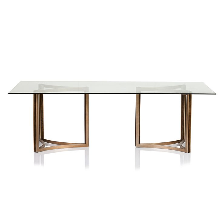 Most comfortable glass dining table with wood base best 25 for Glass dining table designs