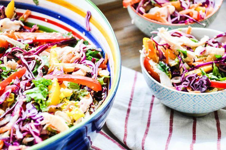 Asiatischer Salat mit Hühnchen & Erdnuss-Limetten-Dressing-72