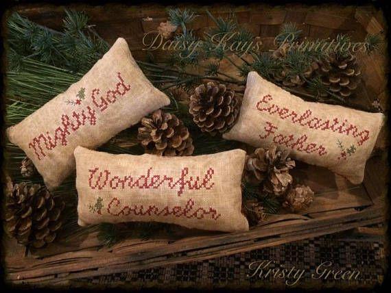 Primitive Christmas Decor  Primitive Pillow Tuck  Christmas