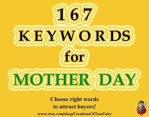 167 Muttertag Schlüsselwörter Haupt- und Long Tail-Schlüsselwörter für Titel-Tags Um …