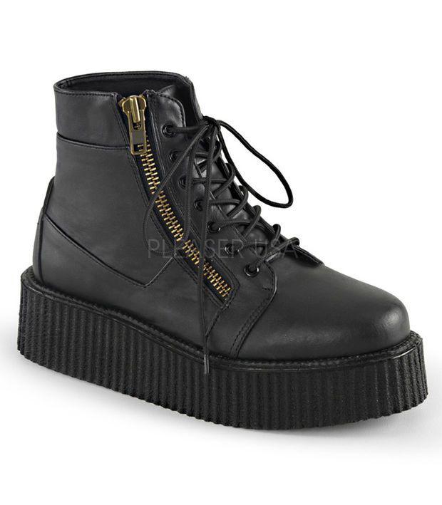 Demonia Black Two Inch Creeper Boots