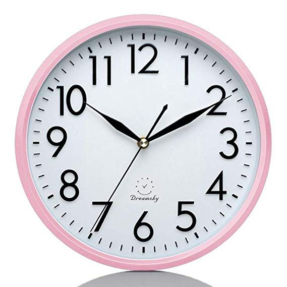 Nice Pink Quiet Wall Clock Non Ticking Wall Clock Clock Clock For Kids