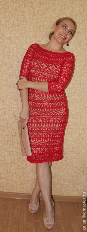El vestido perfecto para las señoras preciosas!  Algodón + viscosa.  Hecho a mano Galina Zarubina.