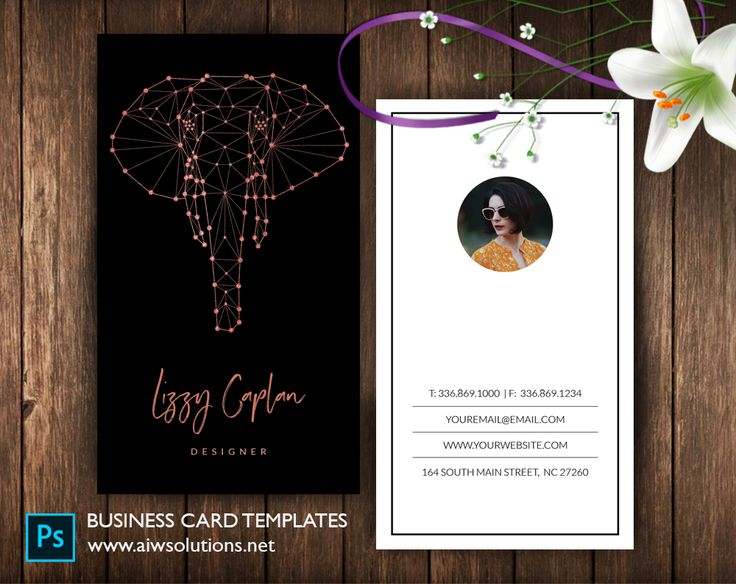 Vertical  Constellation Elephant Name Card- ID50 Elephant glitter calling card,Elephant constellation name card template, modern name card card, zodiac name card ,#constellation ,#astrology,#zodiac, #businesscard #namecard