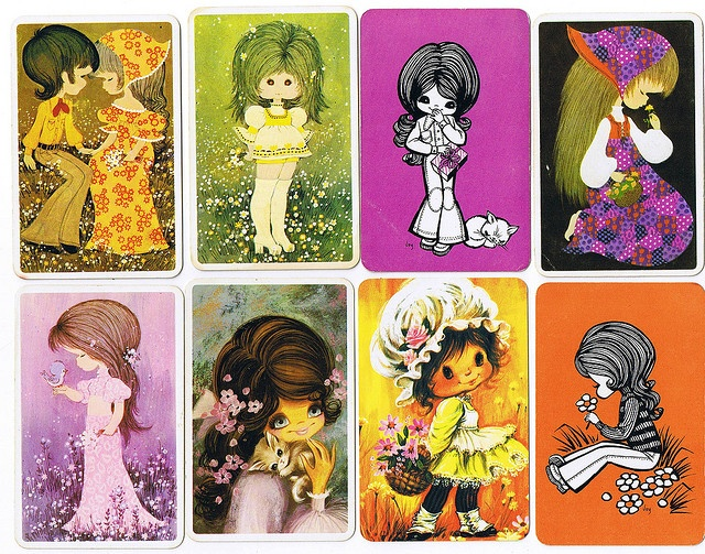 Swap Card Girls by meetmeatmikes, via Flickr