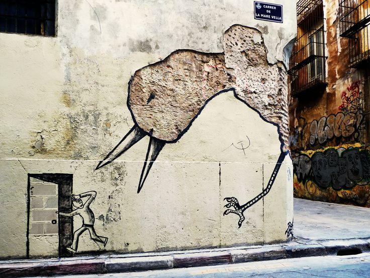 street art In Relleu, Spain