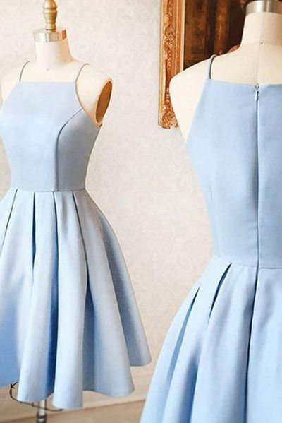 Simple Light Blue Homecoming Dress,Stain Cute Evening Dress,Formal Dress2017,New Arrival HCD36Short Prom Dresses,Homecoming Dresses,Prom Gowns,Party Dresses,Graduation Dresses,Short Prom Dresses,Gowns Prom,Cheap Prom Gowns on Line