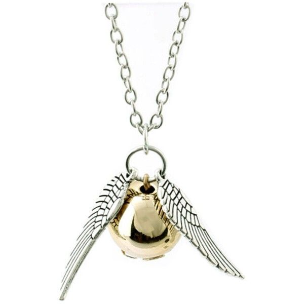 Amazon.com : ANKRY Fairy Jewelry Harry Potter Golden Snitch... ($0.49) ❤ liked on Polyvore featuring jewelry, necklaces, harry potter, accessories, bijoux, white pearl necklace, quiksilver, pearl jewellery, pearl necklace and golden jewelry