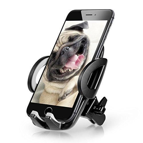 Atill Air Vent Car Mount Holder for iPhone 7 7Plus 6s 6 5s Samsung Galaxy S7 Edge S6 S5 Note 5 Nexus LG Android Smartphones GPS - Black