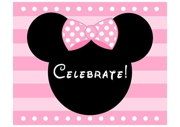 free minnie mouse printable welcome sign