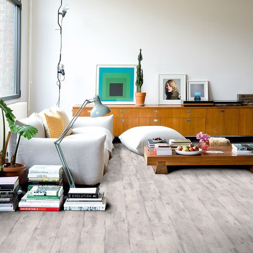 Quickstep Impressive Concrete Wood Light Pale Grey Laminate Flooring For Living  Room Design