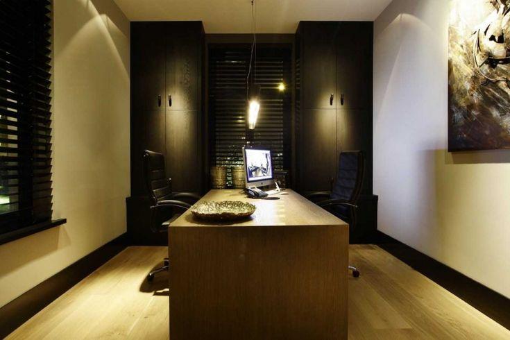 Van den Berg Interieurbouw - Droomvilla Rotterdam - Luxe werkkamer