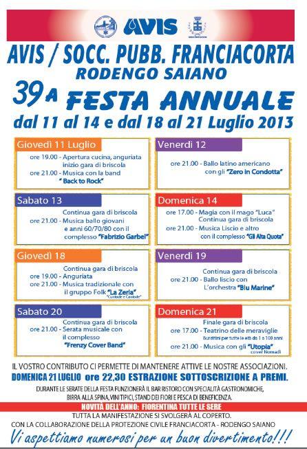 39 Festa Annuale Avis a Rodengo Saiano http://www.panesalamina.com/2013/11868-39-festa-annuale-avis-a-rodengo-saiano.html
