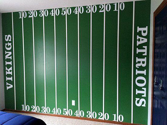 DIY+Football+Field+Wall                                                                                                                                                     More