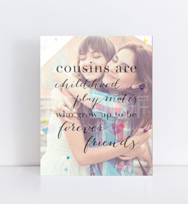 Gift for Cousin, Childhood Playmates Forever Friends | PaperRamma