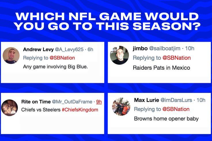 Le pregunté qué 2017 juego de la NFL que iban a asistir. Aquí es lo que usted dijo.