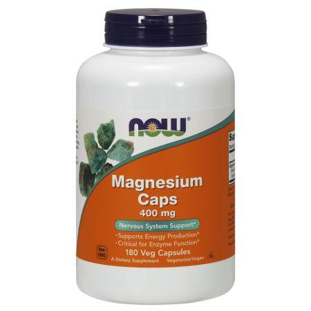 NOW Foods Magnesium 400 mg Capsules, 180 Ct