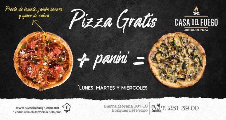 Casa del Fuego 🔥🔥 Lunes, Martes y Miércoles 🔥🔥 4 opciones, tu decides!  Tu restaurante favorito en la puerta de tu casa!  Tel. Delivery 2513900 - 2:00 pm a 10:00 pm (Válido solo en servicio a domicilio) #pizza