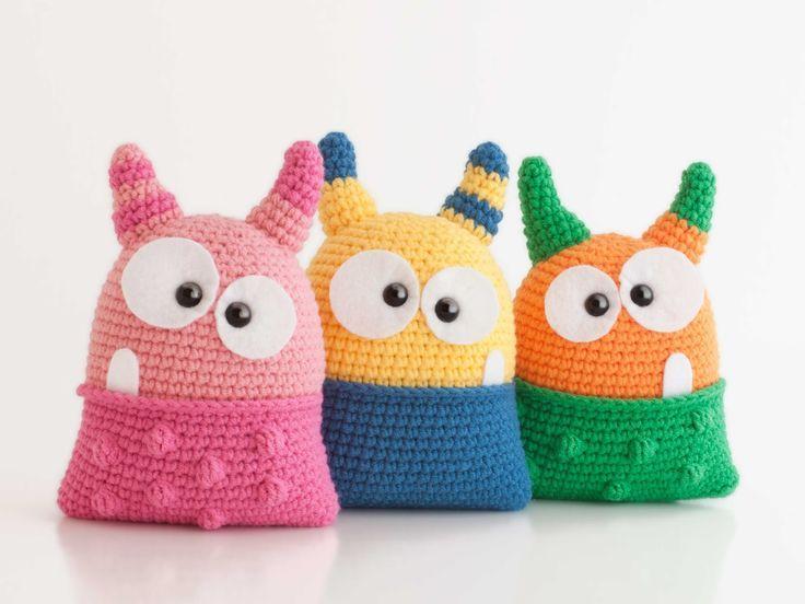 Ravelry: Hug Monster pattern by Linda Salant | Crochet monsters ... | 552x736