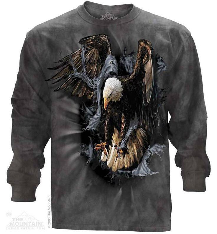 Breakthrough Eagle Long Sleeve Tee - Womens Clothing - - Women T-Shirt - T-Shirts for women - Mens Clothing - Mens t-shirts - t-shirt for men - Unisex T-Shirts - Cotton T-Shirts - Long Sleeve T-Shirts - Long Sleeve T-Shirt - Christmas Ideas - Presents for Christmas