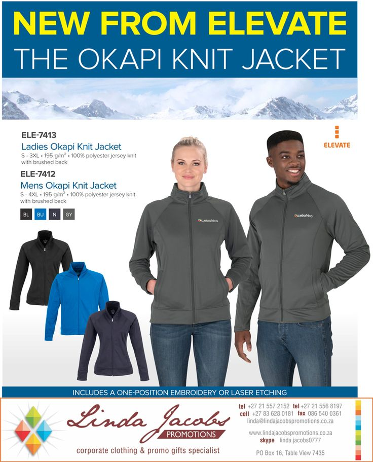 We specialise in you and your brand - and getting it out into the market in a bold and dramatic way.  Contact us for ideas or for special deals... like this one here.... Keeping your brand and it's people warm this winter #brandedjacket #walkingbillboard #itspersonal www.lindajacobspromotions.co.za linda@lindajacobspromotions.co.za 083 6280181 021 5572152