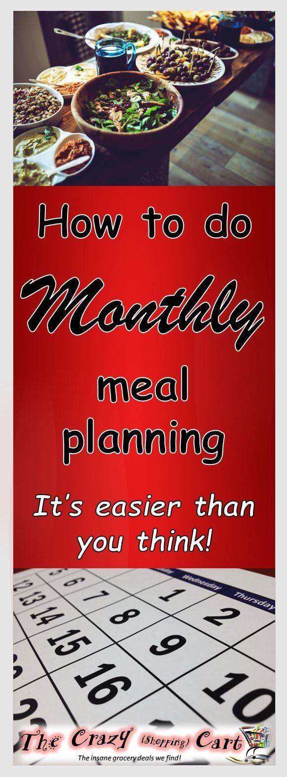 I need to do this!  It will help me stay in my budget as I try to live frugrally.  How to Set Up a Monthly Meal Plan.   Find out how to save tons on our groceries by using a monthly meal plan! (And it�s MUCH easier than you think.)