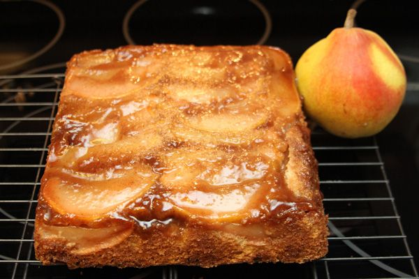 Pear Crunch Coffee Cake - A luscious cake perfect for a Sunday brunch.