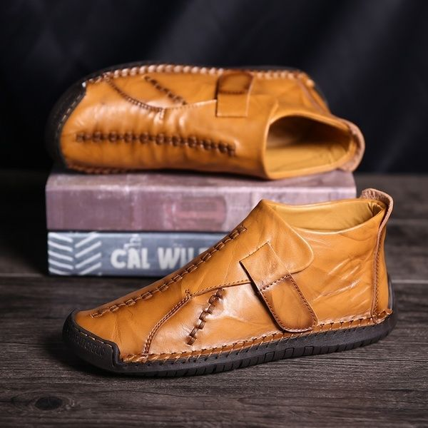 Menico Men Hand Stitching Leather Boots