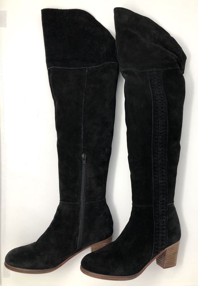 93a17dfe503 Details about Womens' GUESS Black Suede Over The Knee Tall 22