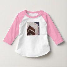 Vintage Retro Chocolate Cake Pink Icing T Shirt