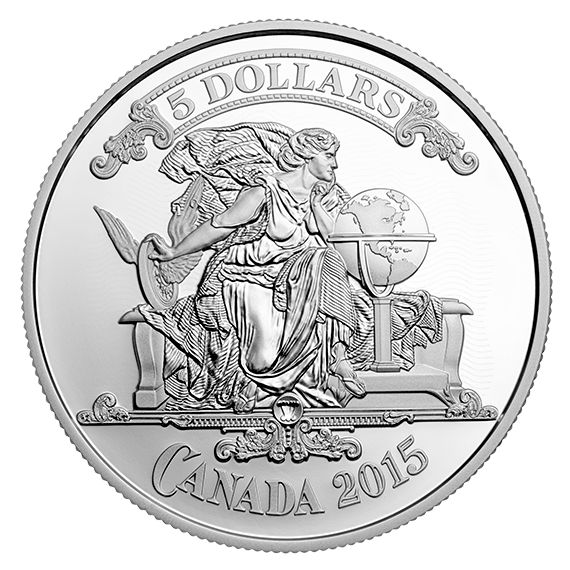 Fine Silver Coin - Canadian Bank Notes Series: Canadian Bank Note Vignette - Mintage: 8,500 (2015)