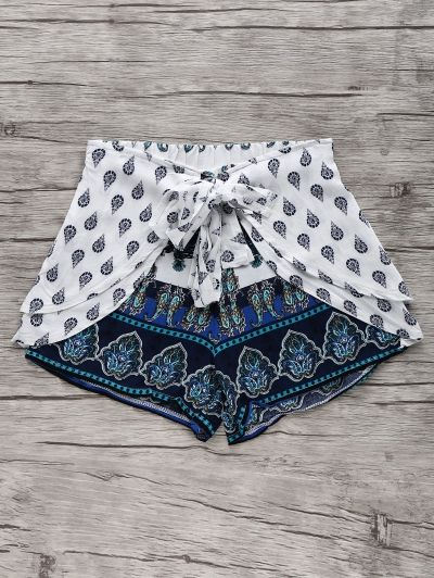 SHARE & Get it FREE | Bohemian Print Wide Leg ShortsFor Fashion Lovers…