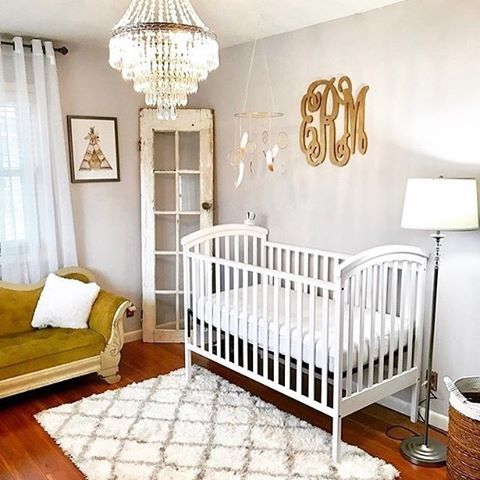 Nursery Shabby Chic Meets Glam Image By Esmeraldamarierivera Glamorous Ideas Pinterest And Baby
