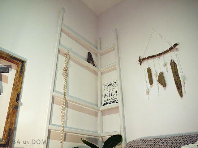 Baba Ma Dom: Drabina - półka DIY do salonu