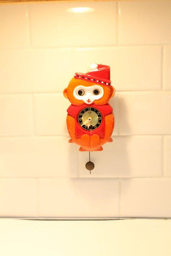 Monkey Cuckoo Clock Cuckoo Clock Clock Wood by ClockworkRummage