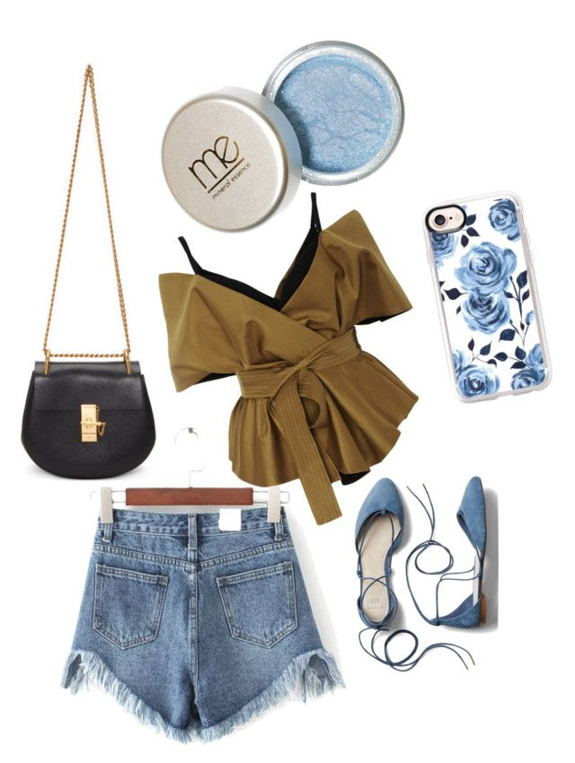 """""""baju cantik hijau lumut with jeans"""" by kristyagaki on Polyvore featuring Acler, WithChic, Gap, Chloé and Casetify"""