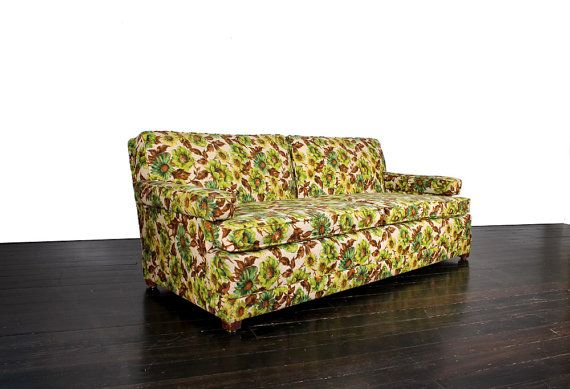Hey, I found this really awesome Etsy listing at https://www.etsy.com/listing/225705787/vintage-green-yellow-and-brown-floral