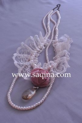 Pearl Ribbon Necklace. Rp. 59.900