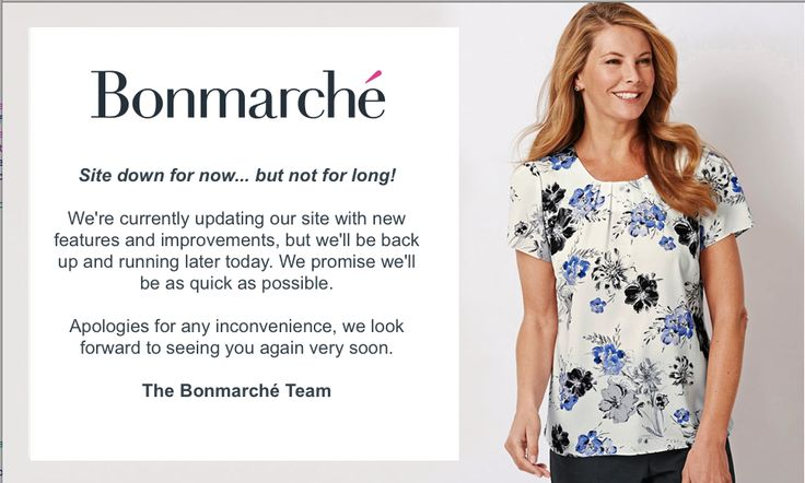 Bonmarche - Site down for now... but not for long!