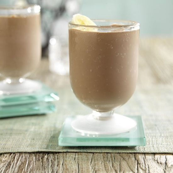 Chunky Monkey smoothie. Packed with protein. 1 cup of Silk dark chocolate almond milk, 1 Cup of ice, 1 medium ripe banana, 1 tbsp low fat peanut butter. Great breakfast smoothie or post workout.