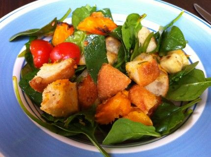 Louise's Roast pumpkin salad with haloumi
