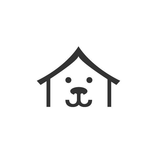 Dog house logo. More logos @ onedollardesigns.com
