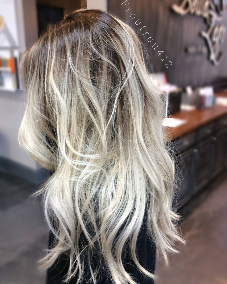 Instagram - froufrou412 or alail6 Balayage blonde, color melted root