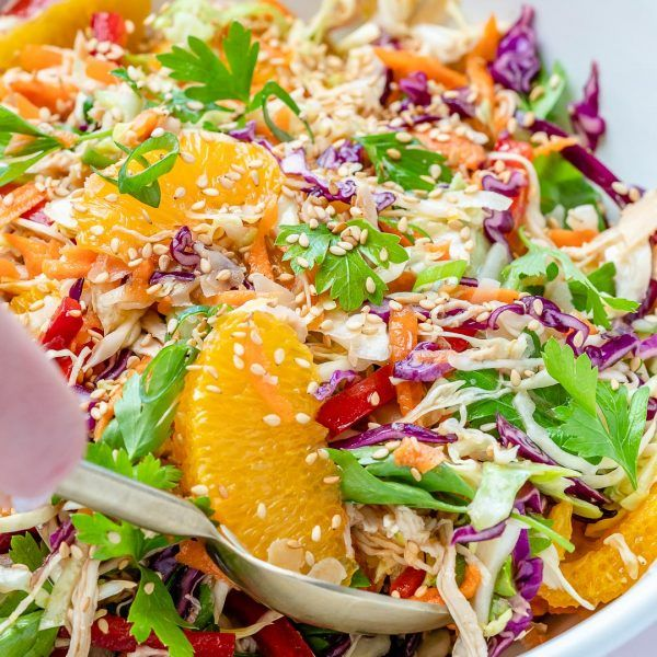 Asian Chicken Salad Recipe Asian Chicken Salads Clean Eating Salads Clean Food Crush
