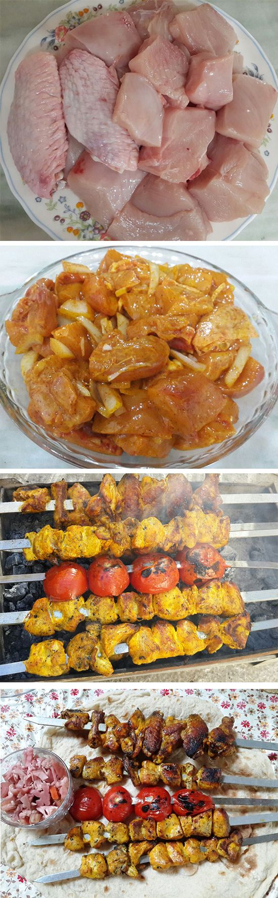 This kebab is usually served at parties such as wedding ceremonies. It is a food that is almost never eaten alone but with family or in a picnic. Complete recipe at: http://goo.gl/6Q0vW4
