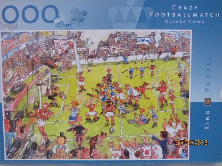 King 1000 Piece Jigsaw Called Crazy Football Match. FOR SALE • £4.50 • See Photos! Money Back Guarantee. A KING 1000 PIECE JIGSAW BY GEROLD COMO CALLED CRAZY FOOTBALL MATCH. GREAT JIGSAW FROM HIS COMIC COLLECTION IN VERY GOOD USED CONDITION. THANKS FOR LOOKING AND PLEASE SEE MY 322330130543