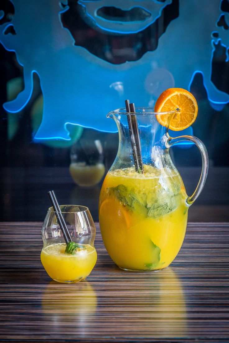 Homemade orange lemonade